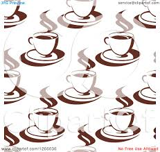 Clipart Of A Seamless Background Pattern Brown Coffee Cups