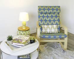 Poang Chair Cushion Blue by Ikea Poäng Cushion Slip Cover Turquoise Blue Metallic Gold