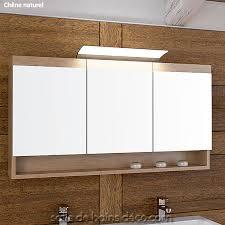 armoire de salle de bain à porte miroir meuble suspendu 120cm