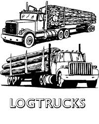 Log Truck Clipart Kid