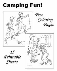 Camping Coloring Pages Sheets And Pictures