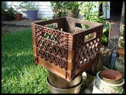 Trash To Treasure Making A Planter From Milk Crate