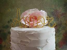 AMOR Cake Topper