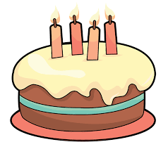 Cake on table clipart Birthday