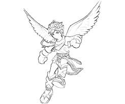 Kid Icarus Dark Pit Fly Coloring Pages