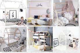 cabane dans la chambre chambre enfant le lit cabane décoration créative