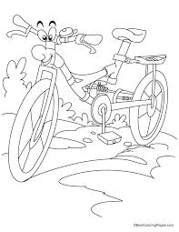 Cartoon Racing Cycle Coloring Page