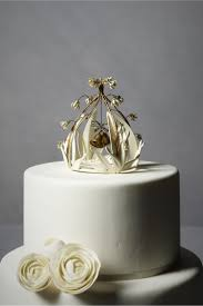 Crystal Cloche Cake Topper From BHLDN