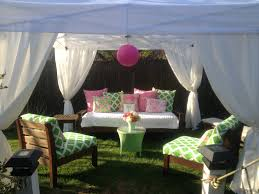 Patio Curtains Outdoor Idea by I Added Fabric To Curtains On A Simple