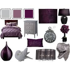 Grey And Dark Lavender Bedroom By Pet387 On Polyvore
