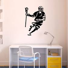 Guys Lacrosse Wall Art Decals