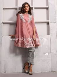 latest pakistani cape style dresses for party wear 2 clothing