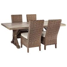 Beachcroft 5 Piece Outdoor Dining Set By Signature Design By Ashley At  Furniture And ApplianceMart Outdoor Wicker Chairs Table Cosco Malmo 4piece Brown Resin Patio Cversation Set With Blue Cushions Panama Pecan Alinum And 4 Pc Cushion Lounge Ding 59 X 33 In Slat Top Suncrown Fniture Glass 3piece Allweather Thick Durable Washable Covers Porch 3pc Chair End Details About Easy Care Two Natural Sorrento 5 Cast Woven Swivel Bar 48 Round Jeco Inc W00501rg Beachcroft 7 Piece By Signature Design Ashley At Becker World Love Seat And Coffee Belham Living Montauk Rocking
