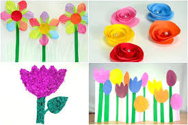 Kid Craft Ideas For Spring How To Make Paper Flowers Kids