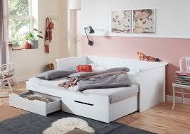 relita funktionsbett lina mit ausziehbarer liegefläche und 2 schubkästen wahlweise mit matratze kaufen otto