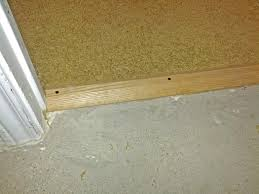 Types Of Transition Strips For Laminate Flooring by Installation Of A Flooring Transition Strip On Concrete 2014 Job