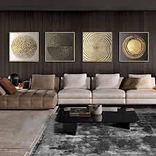 abstrakte gold schwarz weiß moderne quadratische textur 4 stücke leinwand malerei poster und drucke wandkunst bilder für wohnzimmer wohnkultur kein