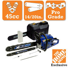 Blue Max 2 In 1 20 in and 14 in 45cc Gas Chainsaw bo with
