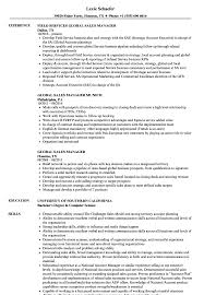 Download Global Sales Manager Resume Sample As Image File