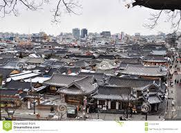 100 South Korean Houses Traditional House Jeonju Hanok Village Editorial Photo