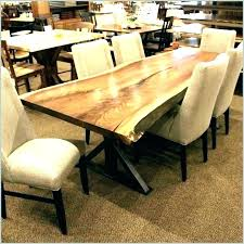 Natural Wood Dining Table Room Raw