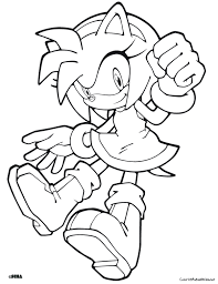 Free Printable Sonic The Hedgehog Amy Rose Coloring In Sheets For Boy