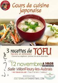 3 recettes cuisine cours de cuisine japonaise 3 recette de tofu on sort agenda