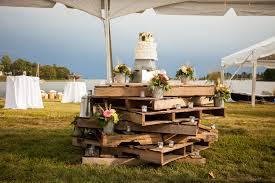 Rustic Wedding Cake Display In Washington Dc Area