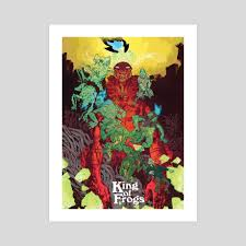 100 King Of The Frogs Of An Art Print By Artyom Trakhanov