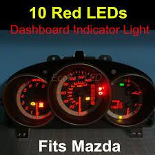 10x Red Dashboard LEDs Gauge Light Instrument Cluster Indicator