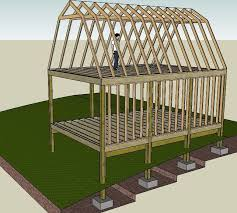 8 X 10 Gambrel Shed Plans by Making My Own Plans 16 U0027 X 24 U0027 Gambrel Style 2 Story Shed House