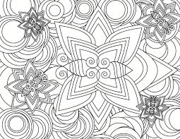 Unusual Idea Abstract Coloring Pages For Adults Cat For