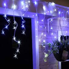 720 blue white led snowing icicle lights