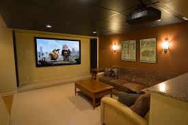 drop ceiling lighting ideas Home Theater Contemporary with accent