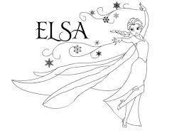 Disney Frozen Coloring Pages Elsa Page