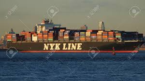 Cargo Ship And Shipping Containers Stock Photo