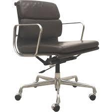 chaise de bureau vitra chaise de bureau ea217 en cuir marron charles eames pour vitra