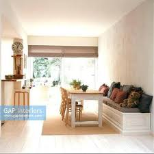 Built In Dining Bench Dinning Room Kitchen Diner Seat White Alcove Breakfast Nook Window