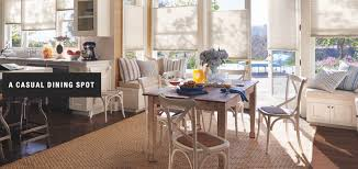 A Beautiful Casual Dining Spot Shown With DuetteR ArchitellaR Honeycomb Shades From