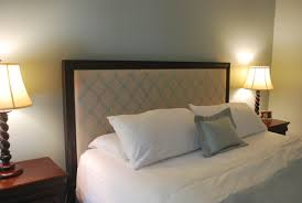 Cheap Upholstered Headboard Diy by Diy Tufted Headboard King Amys Office