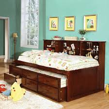 up to 30 off twin captain bed with twin trundle 3 drawers cherry