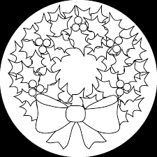Coloring Pages O Christmas Wreath Printable Version