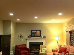 living room affordable living room lighting setup with recessed
