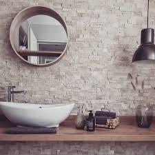 gäste wc liebe gästewc steinwand bad badezimme