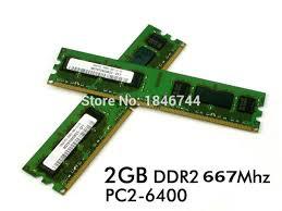 lenovo pc de bureau nouveau pc de bureau ram ddr2 2 gb pc2 6400 667 mhz dimm ram pour