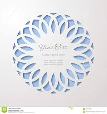 Paper Cut 3d Ornamental Border Invitation Or Greeting Card Design Template Laser Cutting Mandala Element Vector Illustration