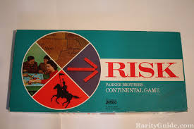 Risk Board Game Parker Brothers 1968