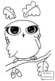 Coloring Pages Cartoon Owl Owls Birds