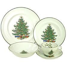 Christmas Tree Amazon Prime by Amazon Com Spode Christmas Tree 12 Piece Dinnerware Set Service