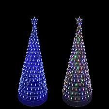 Ge Itwinkle Outdoor Christmas Tree by Backyard Color Changing Lights Christmas Yard Decorations Outdoor